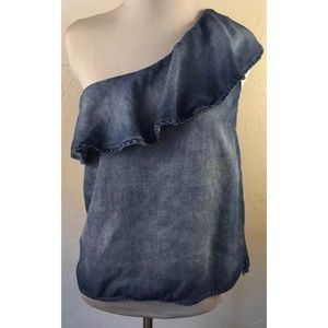 Anthropologie Tops - Anthropologie Cloth & Stone One Shoulder Top XS